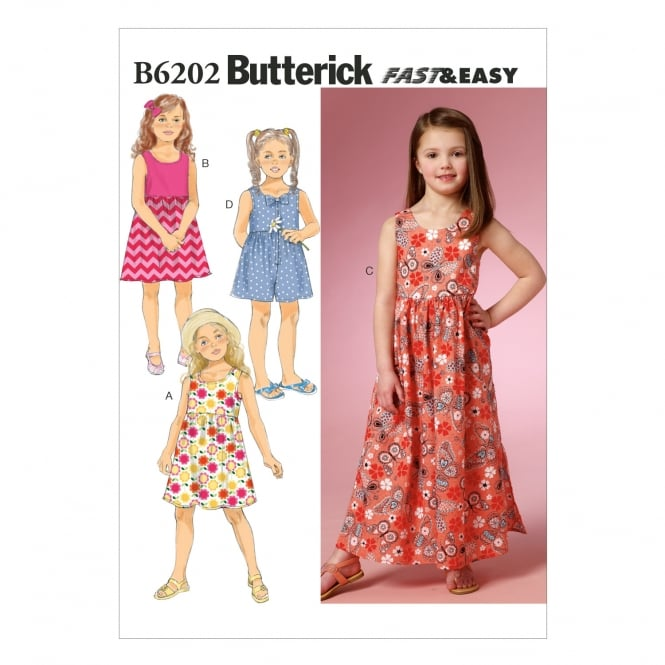 Butterick Sewing Pattern 6202 Size 2 - 5 years