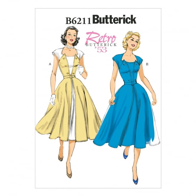 Butterick Sewing Pattern 6211 Size 6-14