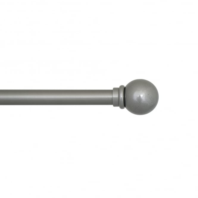 C & H 25mm Rustic Pewter Pole – 120m Ball Finials