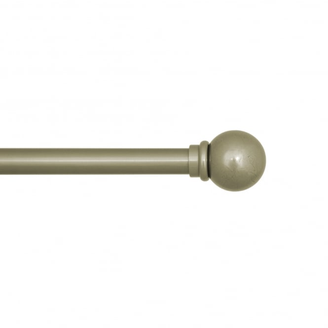 C&H 25mm Rustic Pole Brass Toned Ball Finial