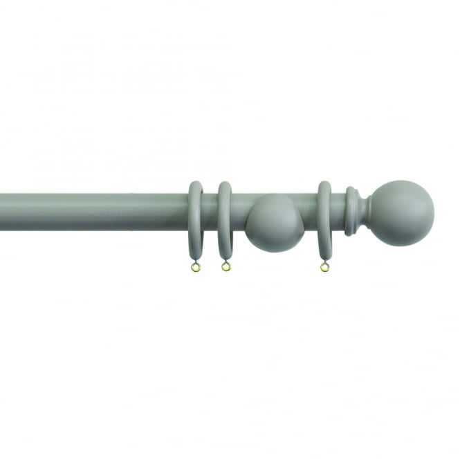 C&H 35mm Clay Wooden Curtain Poles