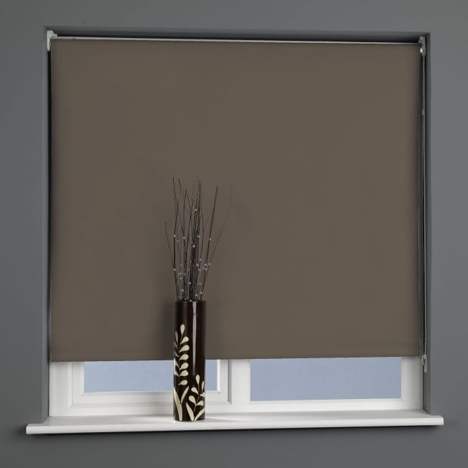 C&H Chocolate Blackout Roller Blinds