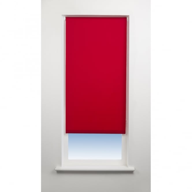 C&H Red Daylight Roller Blinds