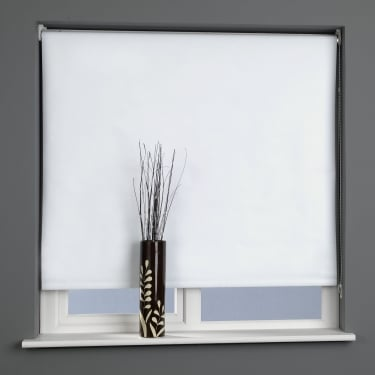 C&H Snow White Blackout Roller Blind