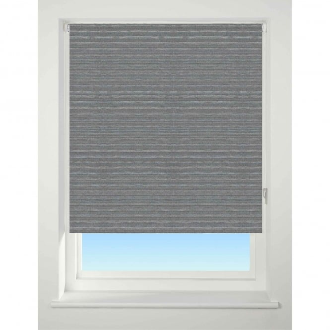 Closs & Hamblin C&H Textured Charcoal Stripe Blackout Roller Blind