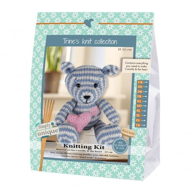 Camille Bear Knitting Kit
