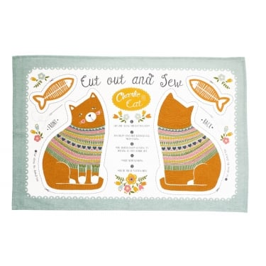 Charlie Cat Cotton Tea Towel