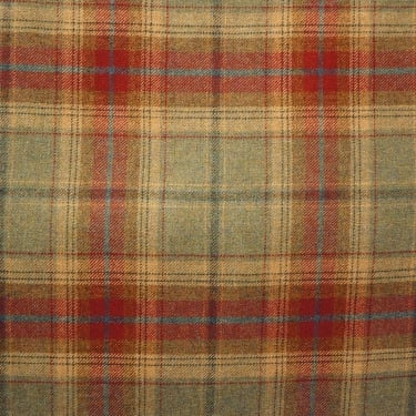 Chess Designs Balmoral Jalapeno Wool Check Fabric