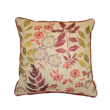 Botanical Berry Floral Square Cushion