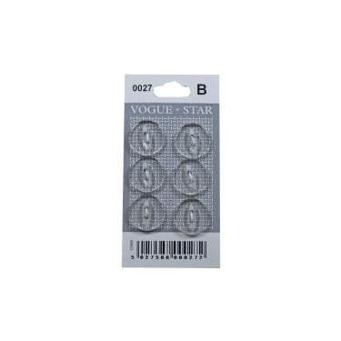 Clear Fish Eye Buttons 0027 (Pack/6)