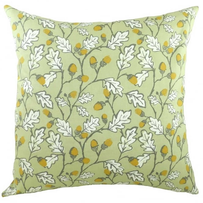 Closs & Hamblin Acorns in Sage Cushion 43cm