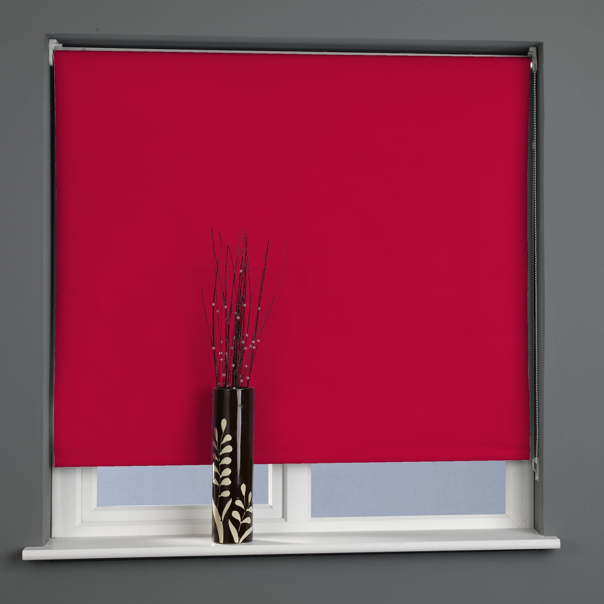 C H Postbox Red Blackout Roller Blinds 60cm To 180cm Closs Hamblin