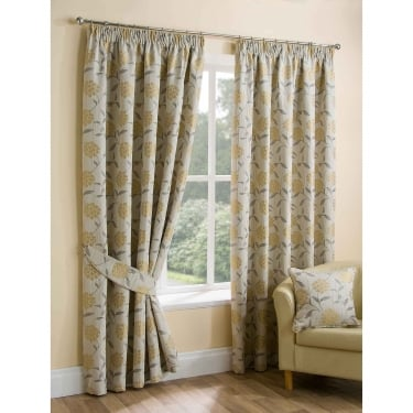 Yellow Ready Made Curtains