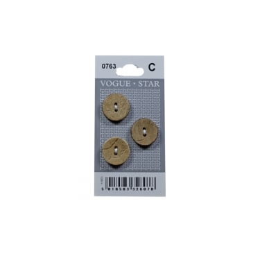 Coconut Shell Effect Buttons 0763 (Pack/3)