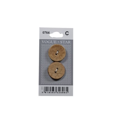 Coconut Shell Effect Buttons 0764 (Pack/2)