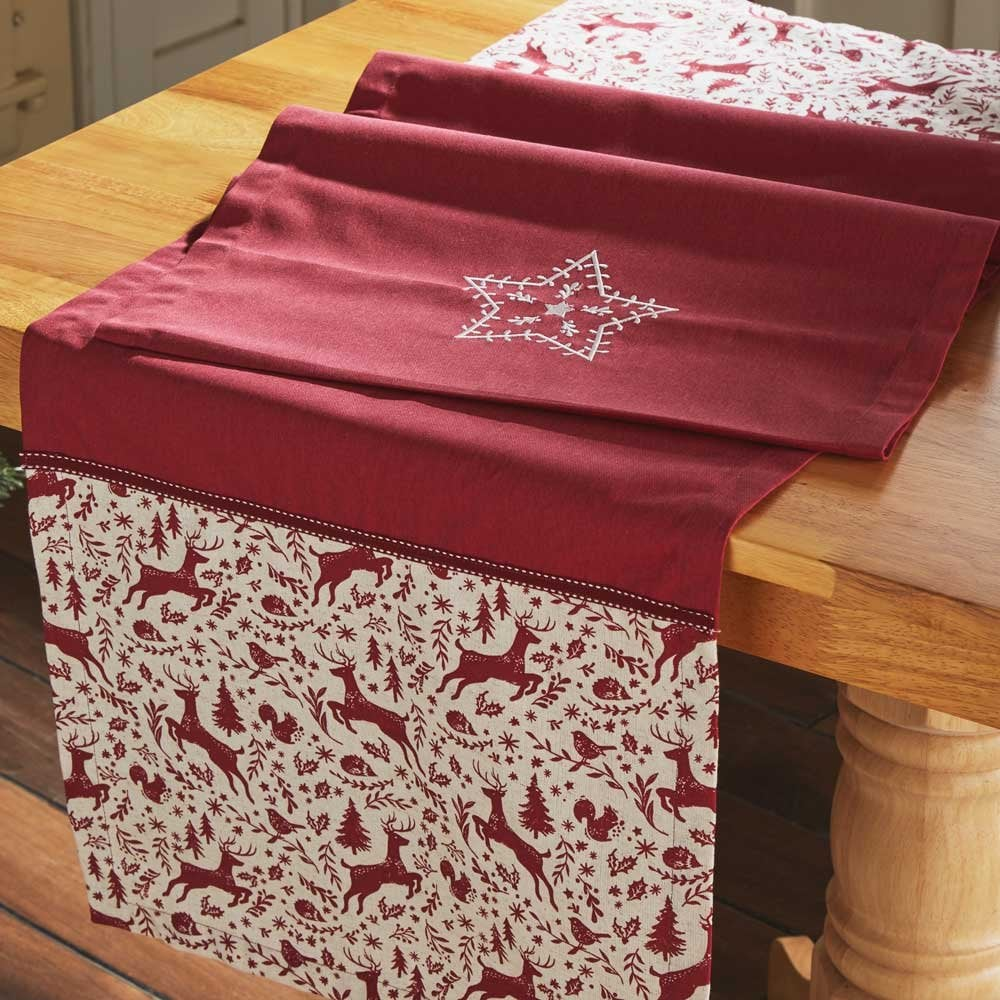 Christmas Table Runner Uk.Winter Wonderland Christmas Table Runner