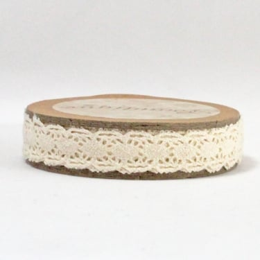Cotton Lace Ribbon 10mm x 5m - Natural