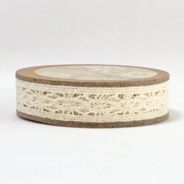 Cotton Lace Ribbon 12mm x 5m - Cream