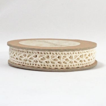 Cotton Lace Ribbon 14mm x 5m - Cream