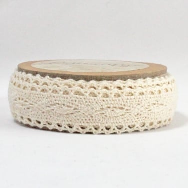 Cotton Lace Ribbon 20mm x 5m - Cream
