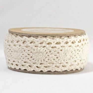 Cotton Lace Ribbon 30mm x 5m - Cream