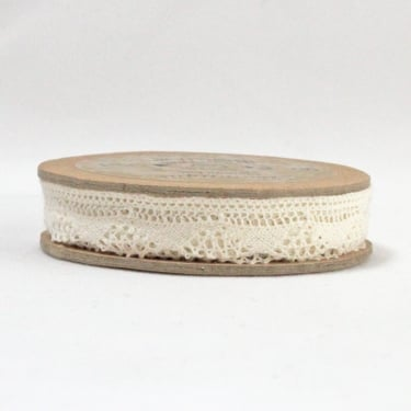 Cotton Lace Scalloped Ribbon 12mm x 5m - Cream