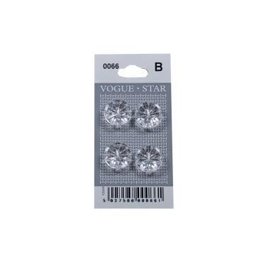 Crystal Effect Buttons 0066 (Pack/4)