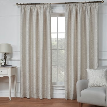 Darcy Natural Floral Ready Made Curtains