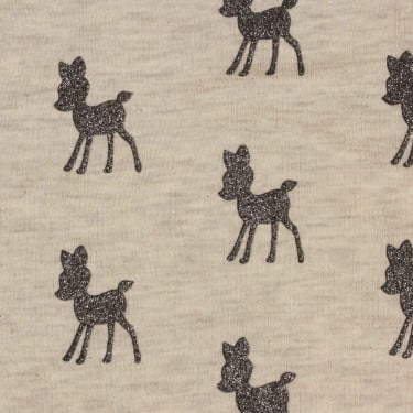 Dazzling Deer Cotton Jersey Fabric