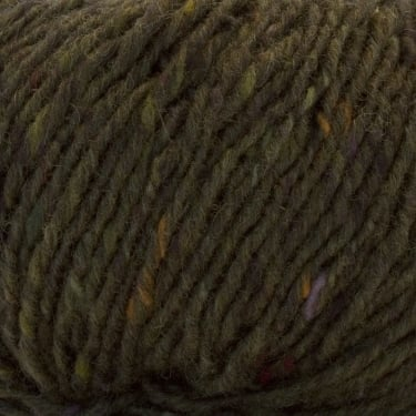 Debbie Bliss Luxury Tweed Aran 50g Yarn - Green Tweed (26)