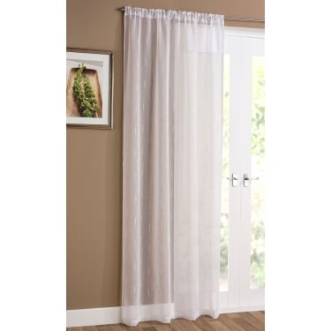 Denver White Voile Curtain Panel