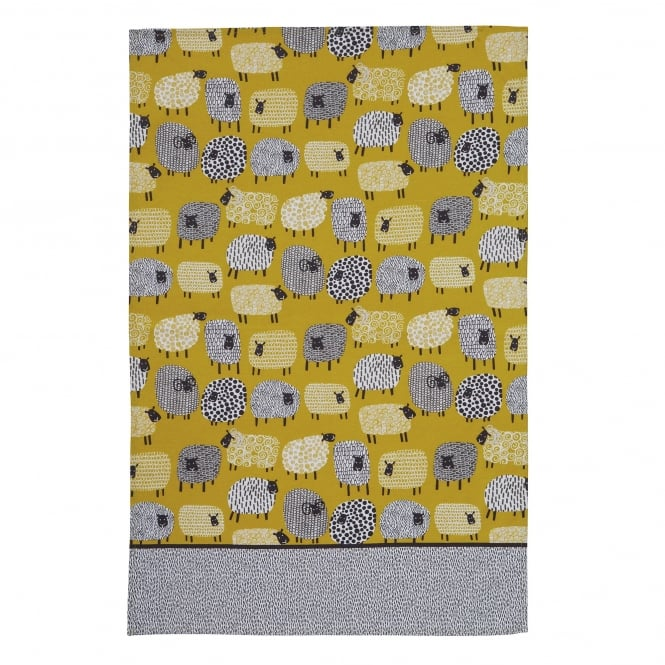 Dotty Sheep Tea Towel