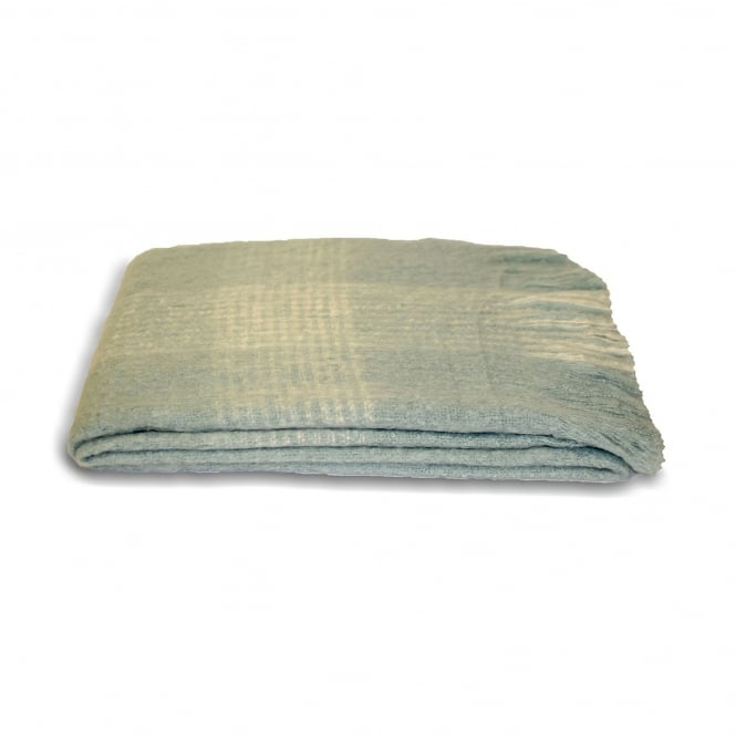 Duck Egg Blue Cairngorm Throw