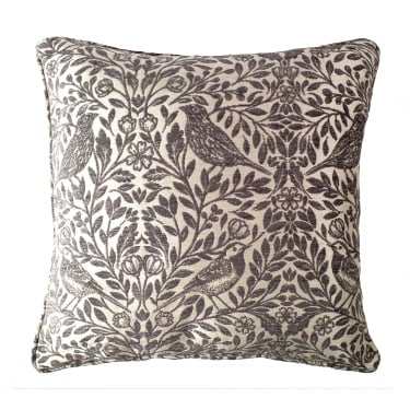 Eden Steeple Grey Patterned Square Cushion