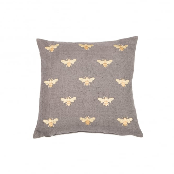 Embroidered Bees Cushion