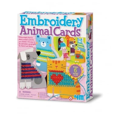 Embroidery Animal Cards Kit