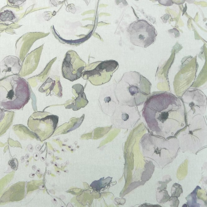 Fibre Naturelle Melody Sweet Lilac Floral Fabric