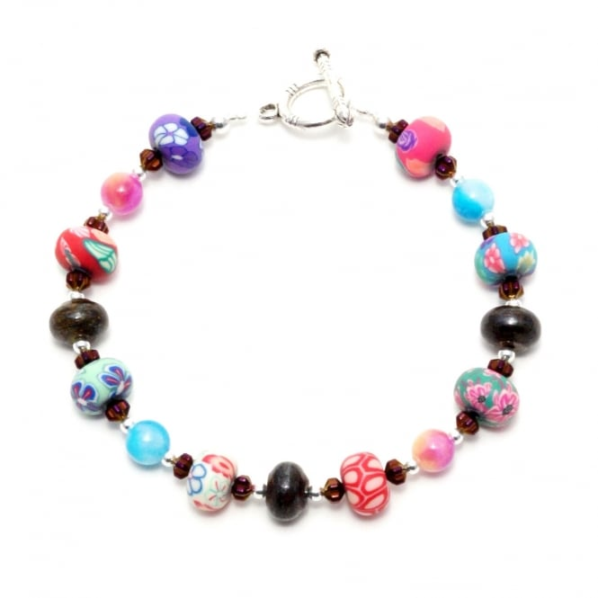 "Finch Gemstone and Bead 8"" Bracelet"