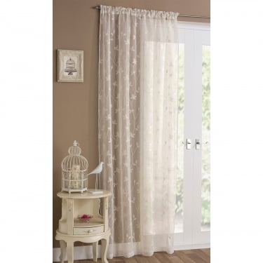 Florence Cream Voile Curtain Panel