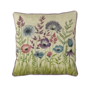 Florence Lavender Floral Square Cushion