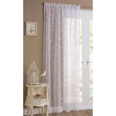 Florence White Voile Curtain Panel