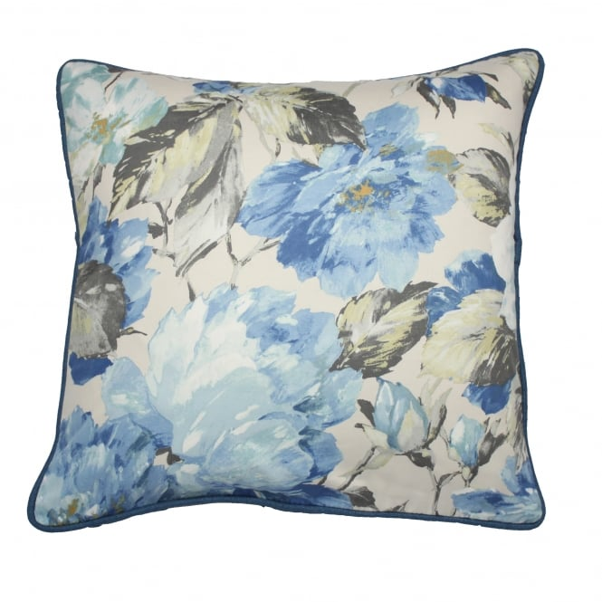 Giverny Hyacinth Blue Floral Cushion