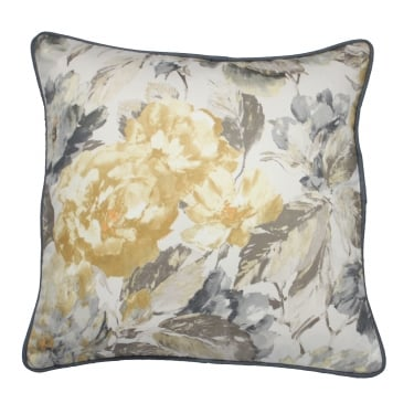 Giverny Jonquil Yellow Floral Cushion