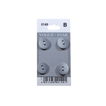 Grey Gradient Buttons 0149 (Pack/4)
