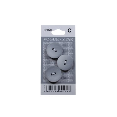 Grey Gradient Buttons 0150 (Pack/3)