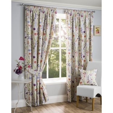Hampstead Heath Floral Multi Ready Made Curtains
