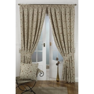 Hampton Floral Tapestry Ready Made Curtains