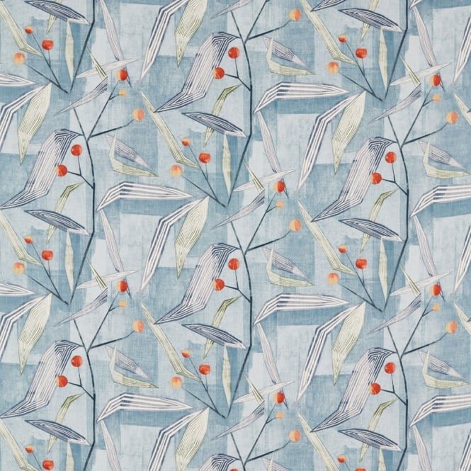 Harlequin Entity Brick/Denim Fabric 120672