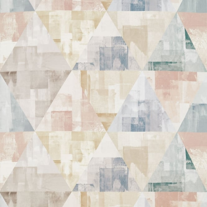 Harlequin Geodesic Blush/Taupe/Seaglass Fabric 120674