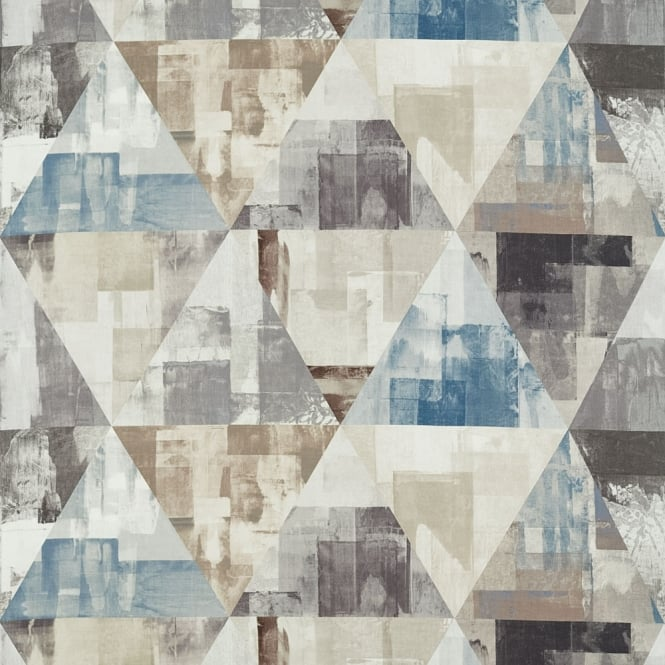 Harlequin Geodesic Kohl/Truffle/Moonstone Fabric 120676